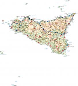 Sicilia Vector Map