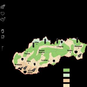 Slovak Republic Land Use map