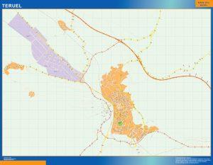 Teruel Mapa Vinilo