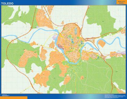 Toledo Mapa Vinilo