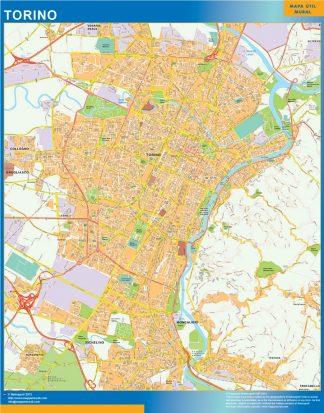 Torino Wall Map