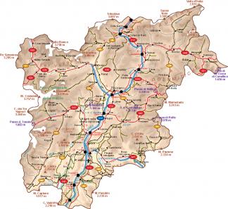 Trentino Vector Map