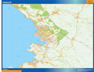 Trieste Wall Map