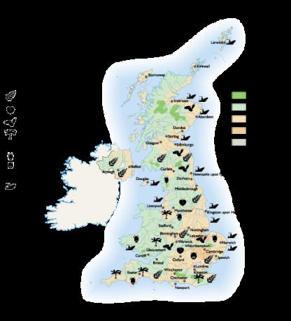 United Kingdom Land Use map