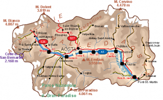 Valle Aosta Vector Map