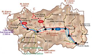 Valle Aosta Vector Map