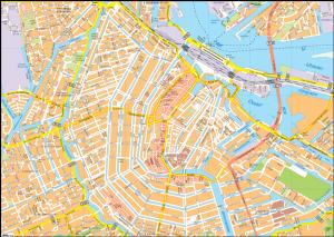 Amsterdam Vector EPS Map