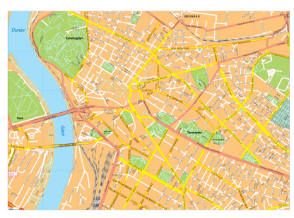 Beograd Vector EPS Map