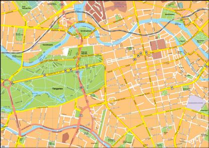 Berlin Vector EPS Map