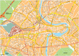 Bern Vector EPS Map