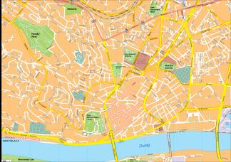 Bratislava Vector EPS Map