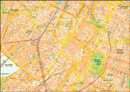 Bruselles Vector EPS Map
