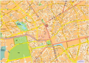 Bucarest Vector EPS Map