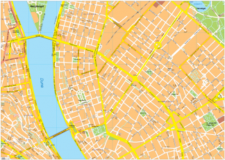 Budapest Vector EPS Map