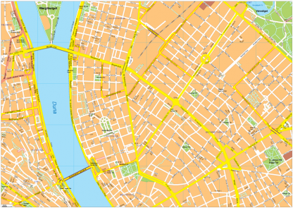 Budapest Vector EPS Map