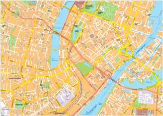 Copenhagen Vector EPS Map