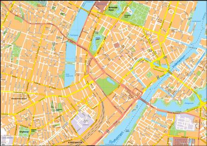 Copenhagen Vector EPS Map