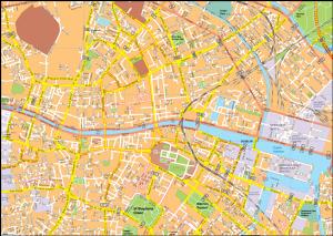 Dublin Vector EPS Map