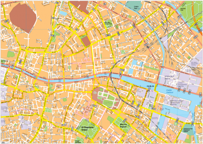 Dublin Vector EPS Map