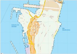 Gibraltar Vector EPS Map
