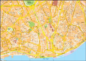 Lisbon Vector EPS Map