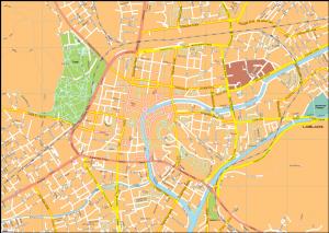 Liubljana Vector EPS Map