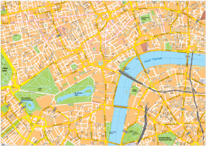 London Vector EPS Map