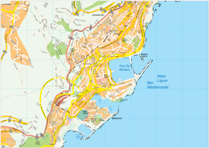 Monaco Vector EPS Map