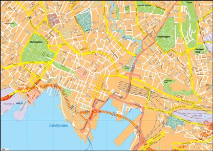 Oslo Vector EPS Map