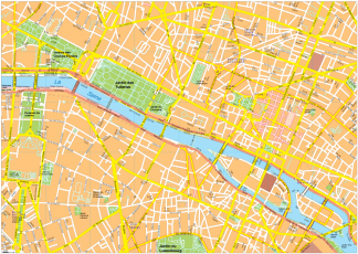 Paris Vector EPS Map