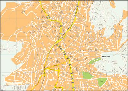 Prishtina Vector EPS Map