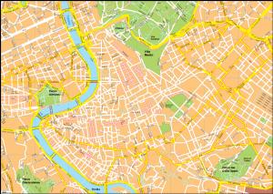 Roma Vector EPS Map