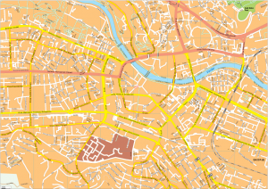 Skopje Vector EPS Map