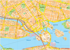 Stockholm Vector EPS Map