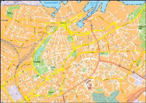 Tallin Vector EPS Map