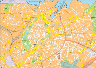 Tallin Vector EPS Map