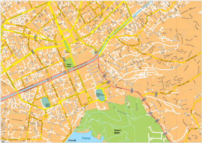 Tirana Vector EPS Map