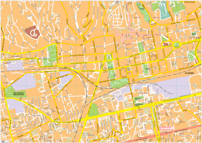 Zagreb Vector EPS Map